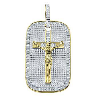 925 sterling hopea 3D riipus - JESUS CROSS KOIRANPÄIVÄ kultaa