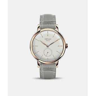 VOTUM - Reloj de señora - VINTAGE SMALL - VINTAGE - V11.20.10.06 - correa de cuero - gris-marrón