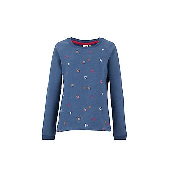 Angra Embroidered Crew Neck Sweat Ensign Blue