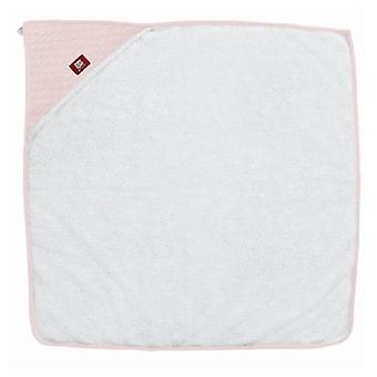 Red Castle White & Pink Hooded Bath Towel