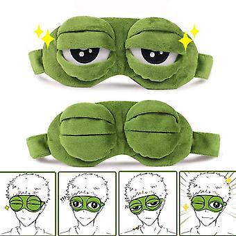 Hauska luova pepe sammakko surullinen 3d silmänaamio kansi