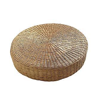 Floor Pillow Eco-friendly Round Straw Cushion Hand Woven Tatami Mat Meditation