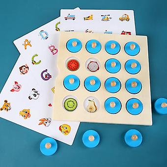 Wooden Memory Chess Game Match Stick Fun Blocks Board Educational Toy Color