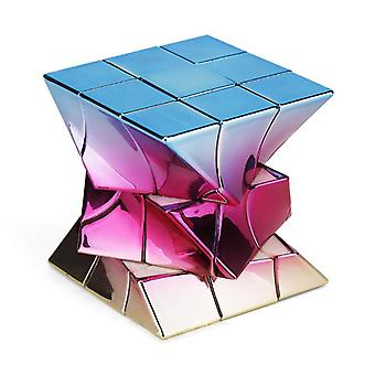 Metalized Electroplating Twisted Cube Limited Edition Cube Educational