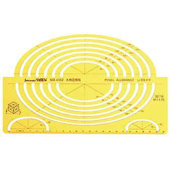 2 Large Ellipse Big Oval Semi Elliptical Shape Drawing Template KT Soft Plastic Ruler Drawing Board