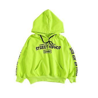 Dětské oblečení Zelená ležérní mikina Tops Loose Bib Kalhoty Pro Jazz & Kostýmy