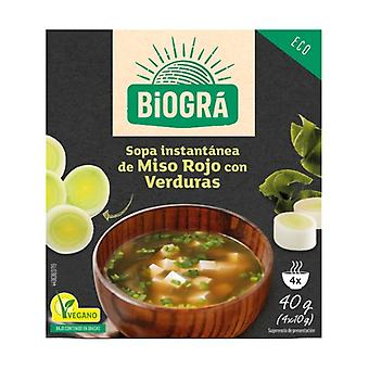 Organic Miso Red Soup with Vegetables 4 packets