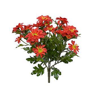 Bouquet crisante artificiale 35 cm arancione