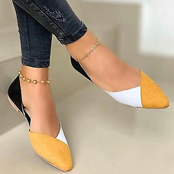 Women Casual Shoes Flock Shoes, Pointed Toe Slip On Boat