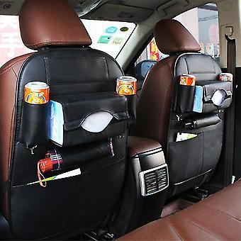مقعد السيارة العودة حقيبة التخزين منظم السفر مربع جيب بو الجلود accessoires