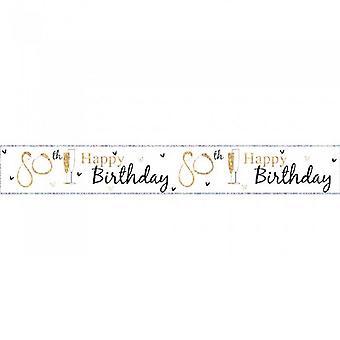 Simon Elvin 80th Birthday Foil Banner (Pack of 6)