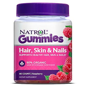 Natrol Hair, Skin & Nails Raspberry 90 Gummies