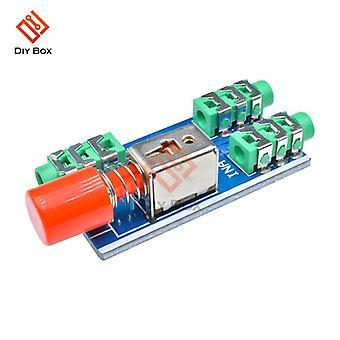 Płytka przełączająca audio 3,5 mm A B Blok wejściowy Opcjonalny moduł typu wyjściowego Select Select