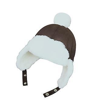Baby Ear Flap Muff Warm Plush Cotton Cap