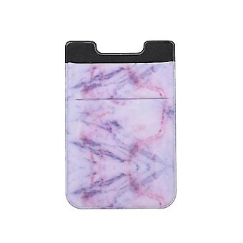 Fashion Leather Phone Card Holder Elastic Solid Adhesive Sticker