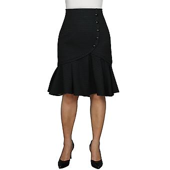 Chic Star Plus Size Flared Retro Skirt In Gray