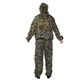 Vadászat ruhák 3d levél kabát, nadrág, álcázás szabadtéri dzsungelben, Watch Bird