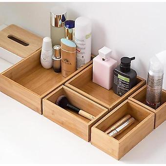 5 Stycke skandinavisk stil inspirerad miljövänlig bambu multifunktionell hushåll och smink arrangör