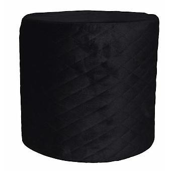 hocker 34 x 31 cm Samt schwarz