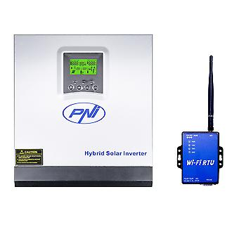 PNI GreenHouse SC1800B Solar Inverter 3KW 24V 60A MPPT Off Pure Sinus Hybrid Grid with WiFi Module for Internet Connection Included