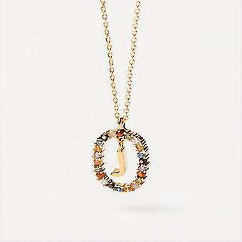 Halsband Kvinna P D Paola CO01-269-U - Plaqu guld Dor