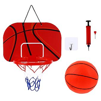 1 Set Hanging Basketball Hoop Set With Mini Basketball For Home Office Bedroom