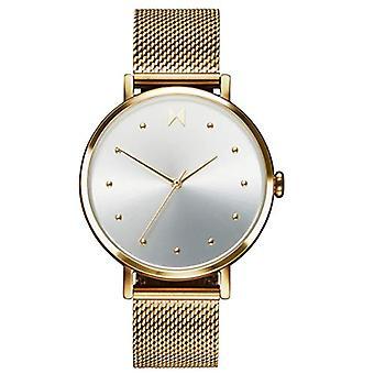 MVMT analoge horloge quartz vrouw met roestvrij staal band toon goud 28000034-D
