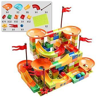 العمر 7 + لبنات البناء الرخام سباق تشغيل المدينة بناء كتلة اللعب للأطفال والسباقات