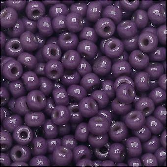 Perline di semi rotondi Miyuki, 8/0, tubo da 22 grammi, #94490 Duracoat Opaco Tinto Viola Scuro