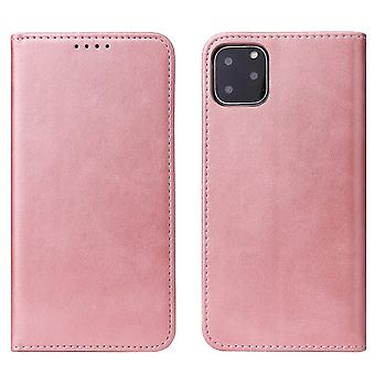 Flip folio leather case for iphone 11 pro max rose gold pns-2051