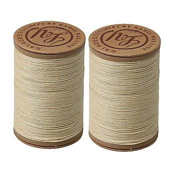 2 x handwerk lederen naaien ambacht ronde 750cm gewaxt draad koord 0.55 Dia