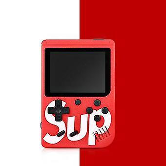 Yksikahvainen punainen kädessä pidettävä peli consoleretro mini peli 400 klassinen fc pelejä 2,8 tuumaa x7148