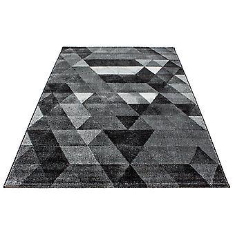 Kort stapel designer matta triangel mönster vardagsrum matta grå ljusgrå Mottled