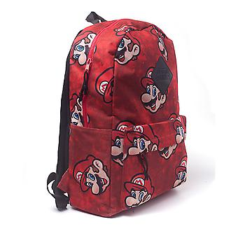 Nintendo - Super Mario Bros. Sublimation Print Backpack - Red