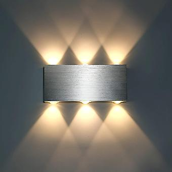 Warm white 6w led wall light indoor wall lamp modern square up down aluminum lighting decoration light warm white dt7046