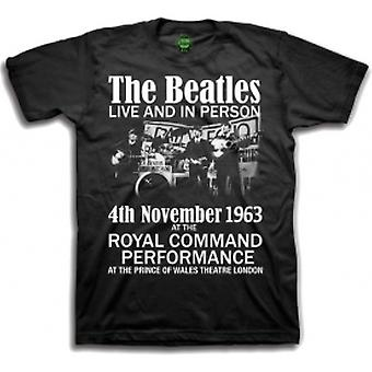 The Beatles Live en in Person Boys Blk TS: Medium