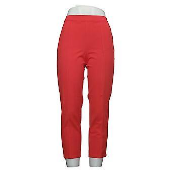 Isaac Mizrahi Live! Pantaloni Petite donna 24 ore su 24, 7 giorni su 7 Cucitura alla caviglia Arancione A274551