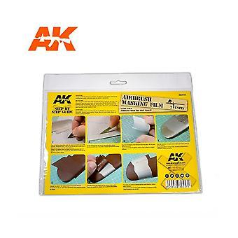AKインタラクティブAK9045エアブラシマスキングフィルム。 モデル製作絵画
