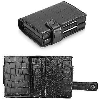 Мужской металлический кошелек RFID молния многокарточный слот автоматический карточный кошелек