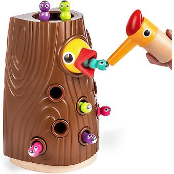Educational Toys From 2 Years Boys And Girls Gifts, Magnetic Toys Children Worm Catching Game