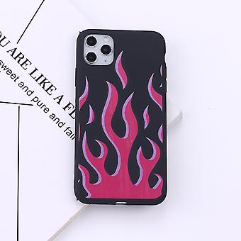 Iphone matkapuhelimen pehmeä silikonikotelo, muoti liekki