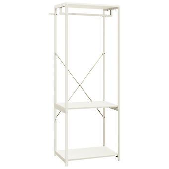 vidaXL garderobe hvit 60x40x167 cm metall og sponplater