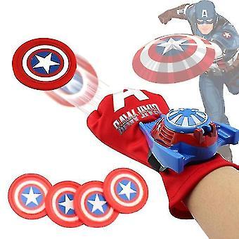 Disney Plastic Cosplay America Kaptajn Handske Launcher Funny Legetøj