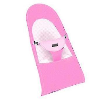 Baby Rocking Chair Comfort Chair Baby Cradle Recliner Newborn Child(Pink)