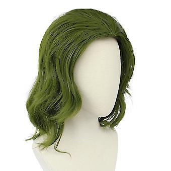 Joker Perücken Joker Ursprung Film Cosplay Curl Perücken grün