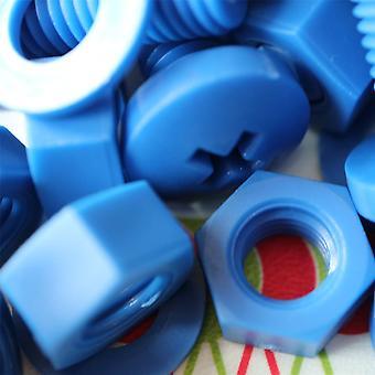 20x Blue Pan Head Polypropylene (PP) Nuts, Bolts, Washers M8 x 20mm