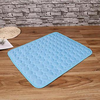 Pet Soft Summer Cooling Pad Tæppe Sommer Autostol Ice Silk Pad