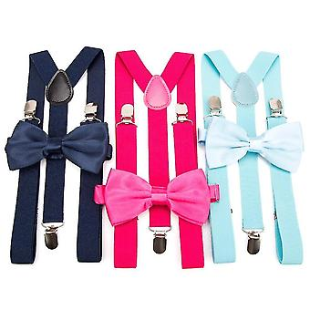 Corbatas tirantes bow tie set hombre moda suspensorio