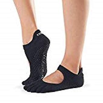 ToeSox Full Toe Bella Bellarina Grip Socks For Barre Pilates Yoga Dance - Raspberry
