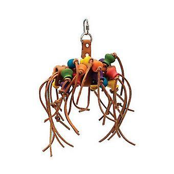 Penn Plax Bird Life Leather-Kabob Parrot Toy - 12» Long - (Petits Perroquets & Oiseaux Moyens)